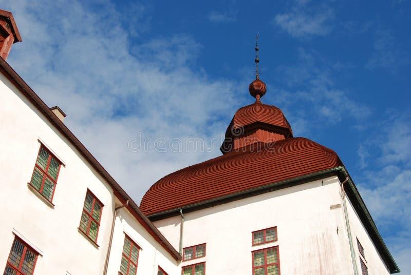 Top del tejado en el castillo de Lacko fotografía de archivo libre de regalías