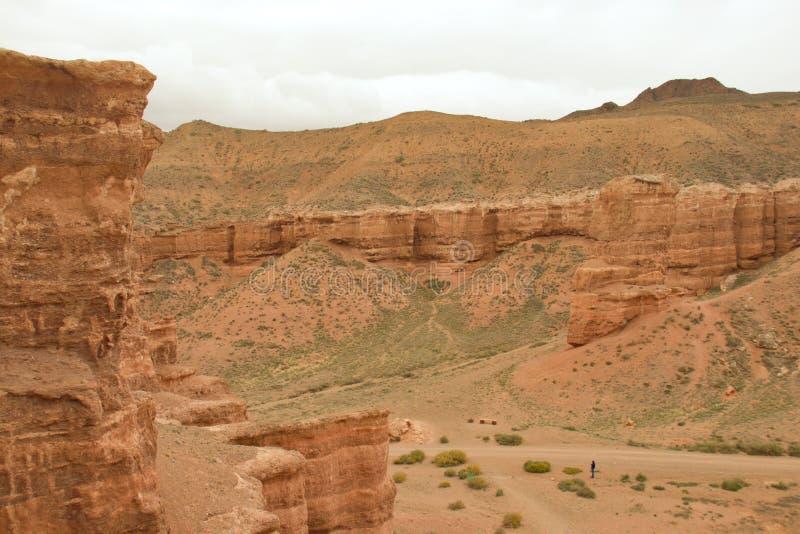 Top destination in Kazakhstan: Charyn Canon, Almaty region. Adventure in Kazakhstan: Charyn Canon, Almaty region stock images