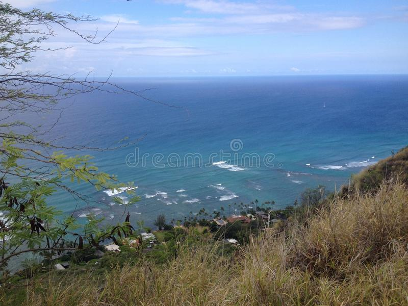 top of the diamondhead stock photo
