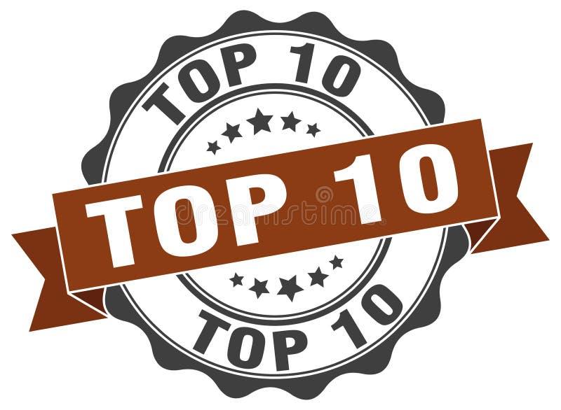 Top 10 Dichtung stempel vektor abbildung
