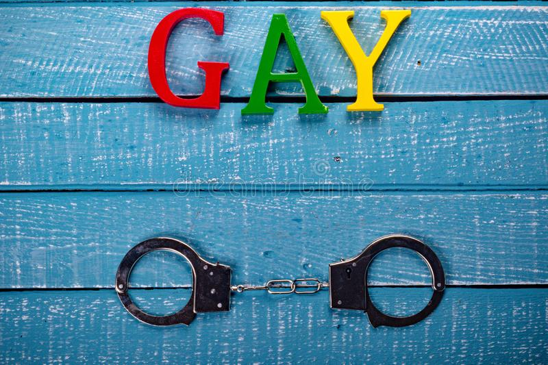 Top down photo of Gay Pride concept stock photo