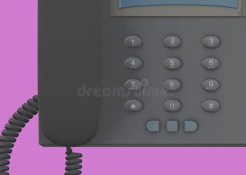 A top down partial view of a modern office table desk telephone royalty free stock images