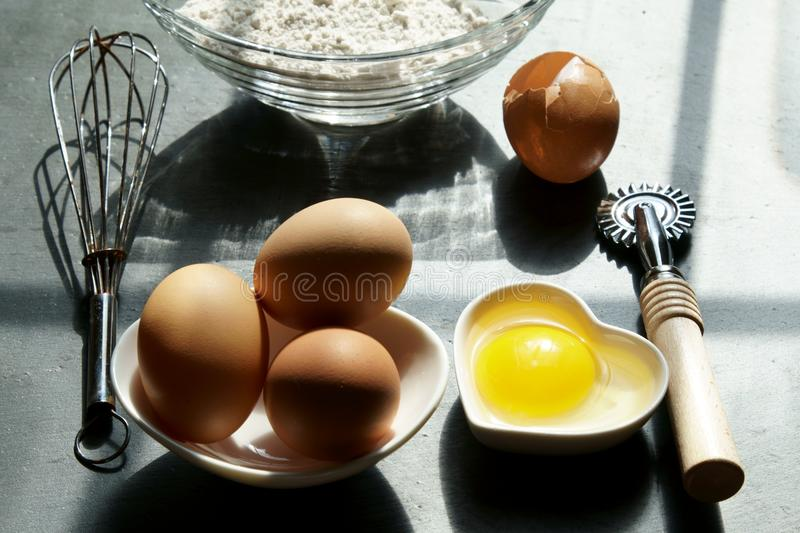 Brown eggs on a napkin. royalty free stock photo