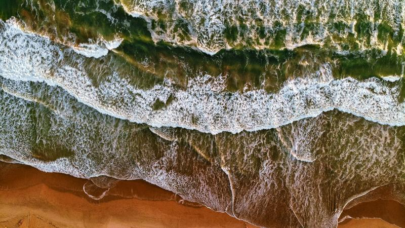 Waves breaking royalty free stock photography