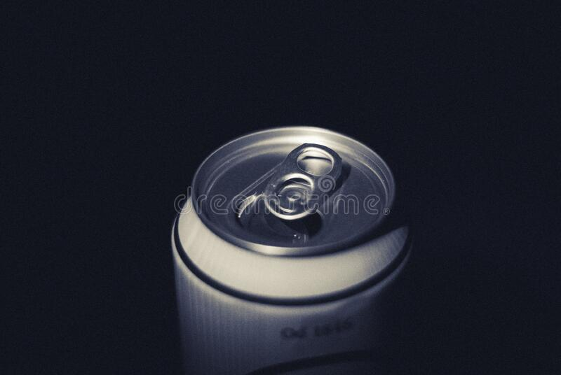 Top of a drinks can royalty free stock photo
