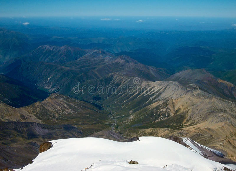 At the top of Elbrus royalty free stock photo