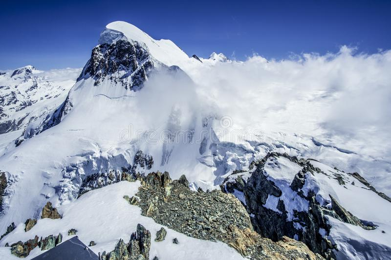 Top of Europe views in Matterhorn glacier paradise stock photography