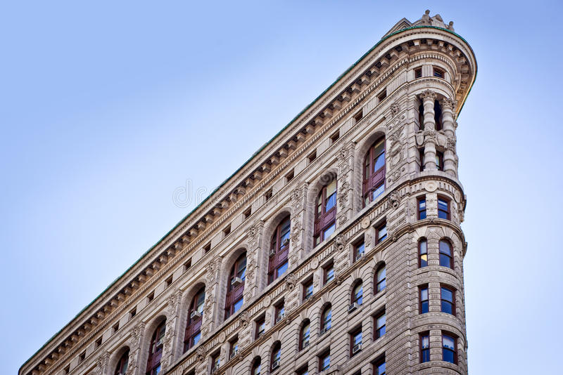 Top of Flatiron building stock photography