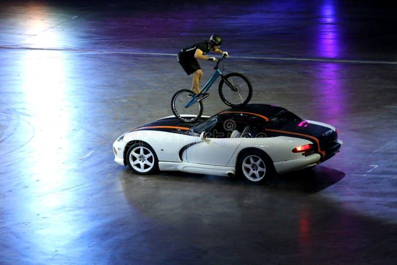 Top Gear. Show Top Gear 29.03.2014 in Saint-Petersburg stock photo