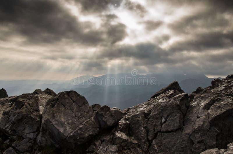 At the top of the Giewont mountain. Tatra mountains, Poland stock photos
