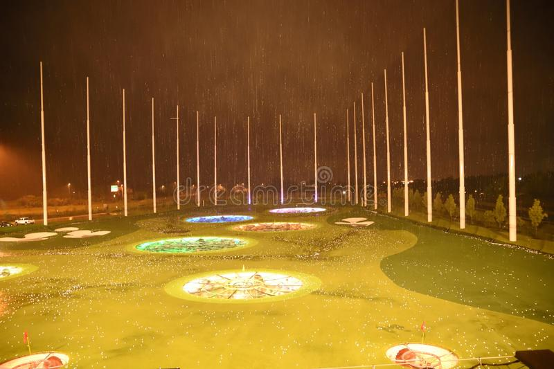 Top Golf golfing complex at Ashburn royalty free stock photography