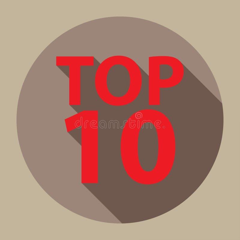 Top 10 grafisch stock illustratie