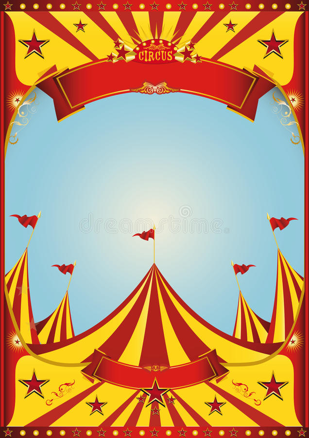 Top grande del circo del cielo libre illustration
