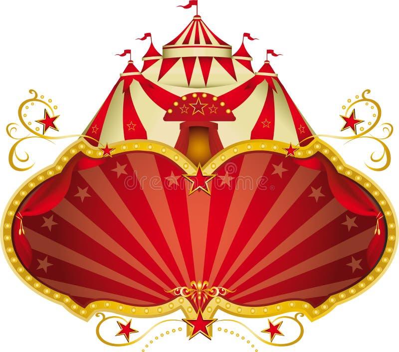 Top grande del circo mágico stock de ilustración