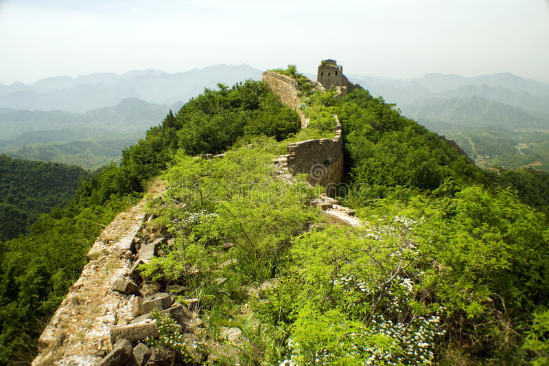 From the top of the Great Wall royalty free stock images