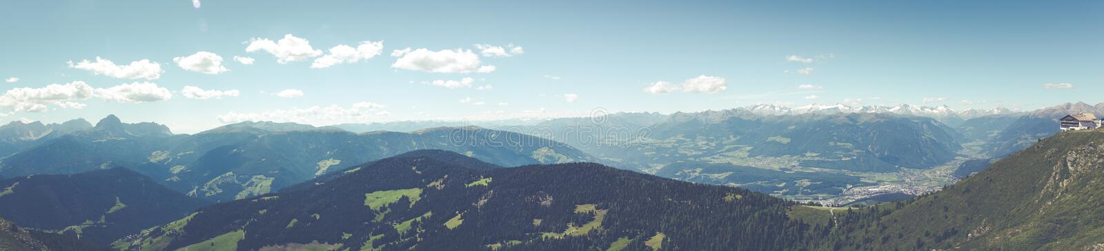 Top of Green Mounter Under Clear Sky during Daytime royalty free stock image