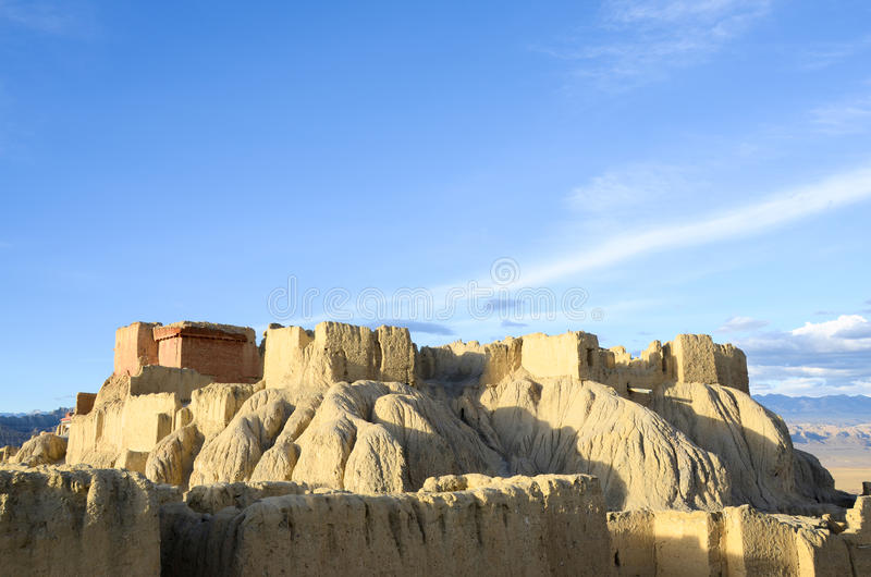 The top of Guge dynasty ruins in Tibet royalty free stock photos