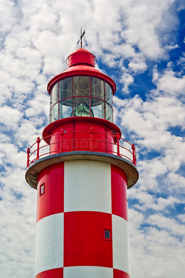 Download Top Half Of Historic Lighthouse Stock Photo - Image: 15606158