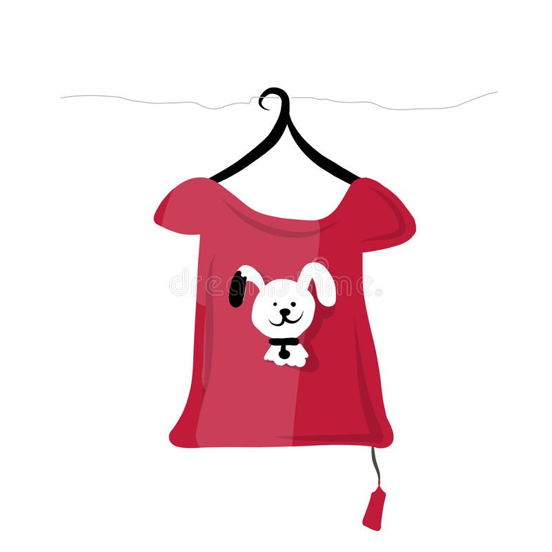 Top on hangers with funny animal design vector illustration