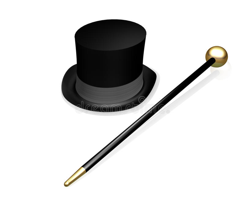 Top Hat and Cane royalty free illustration