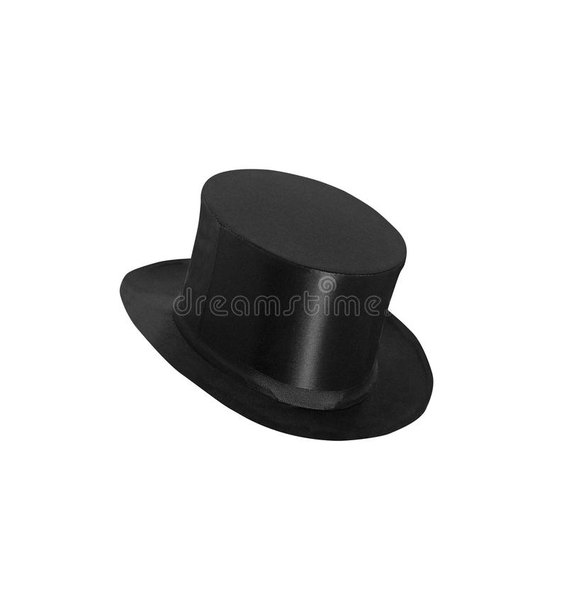 Top hat cylinder isolated on white stock images