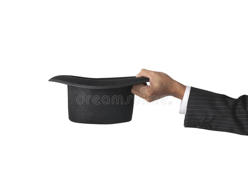 Download Top hat with hand stock photo. Image of elegant, formal - 21416660
