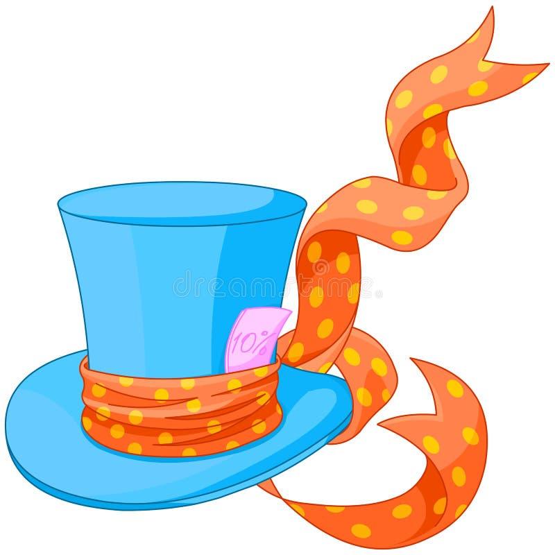 Top hat of Mad Hatter. Illustration of Top hat of Mad Hatter stock illustration