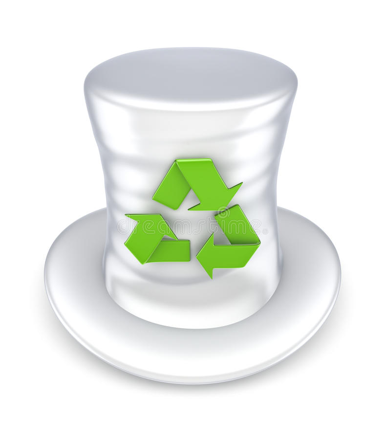 Download Top-hat With Recycle Symbol. Stock Photos - Image: 30116033