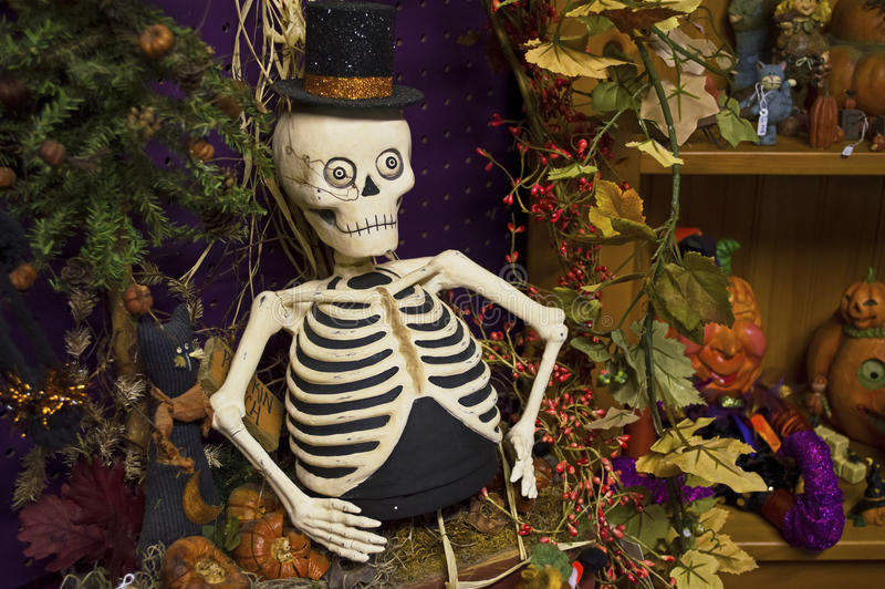 Top Hat Skeleton Stock Photography