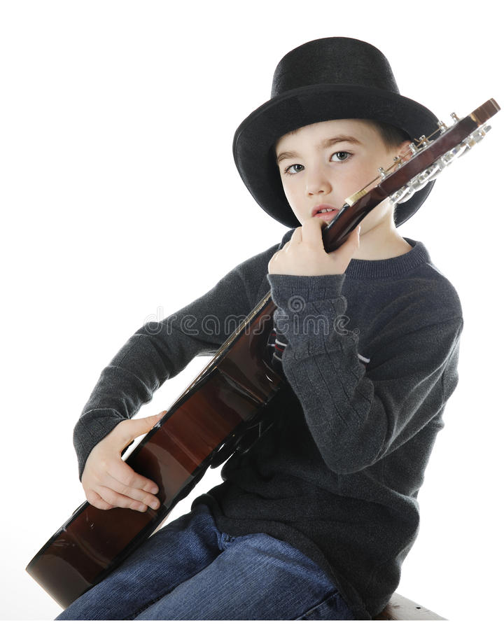 Download Top Hatted Guitarist stock image. Image of player, child - 23892857