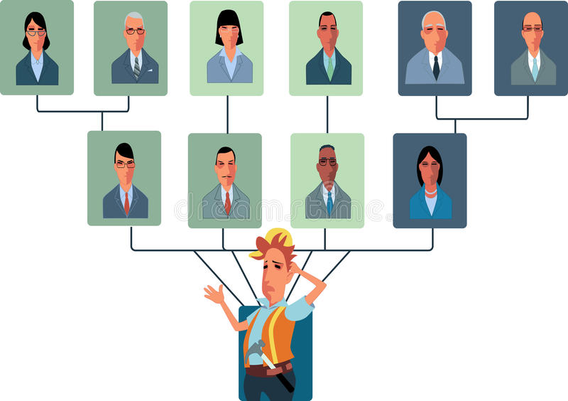 Top-Heavy Organisatorische Structuur royalty-vrije illustratie
