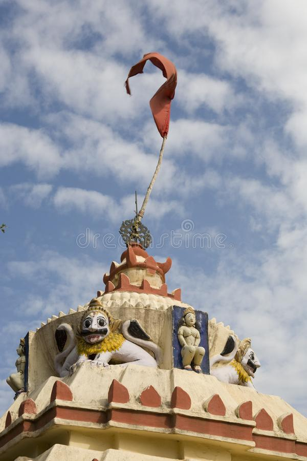 Download Top on an Hindu Temple. stock image. Image of belief - 15763943