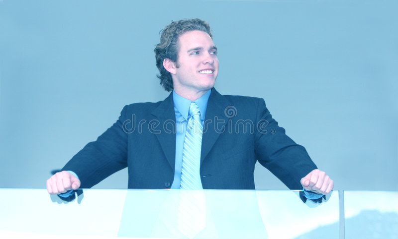 Top of his game stock photo