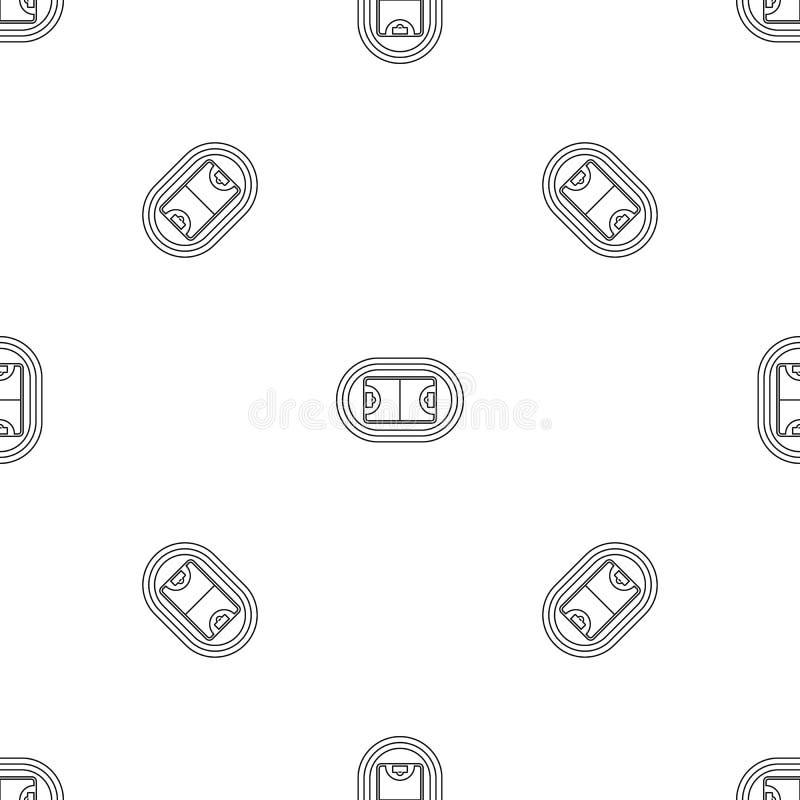 Top hockey field pattern seamless vector royalty free illustration