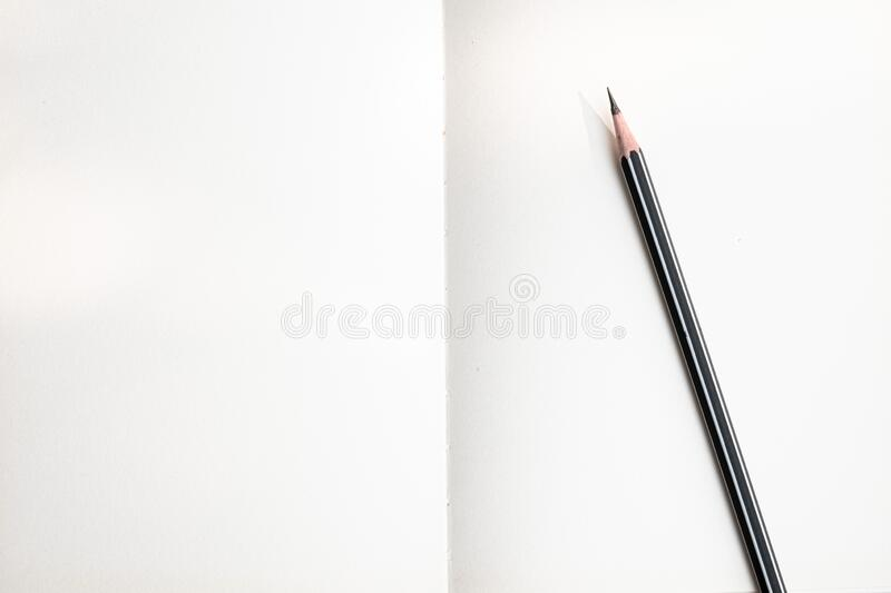 The top image of the whitepaper spiral  notebook and pencil is separate stock photo