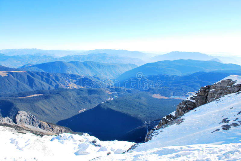 Download Top Of The Jade Dragon Snow Mountain Stock Image - Image: 23250917