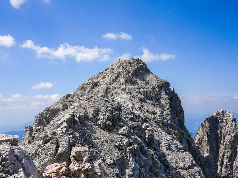 Top of Jof di Montasio. In Alpi Giulie, Friuli, Italy royalty free stock images