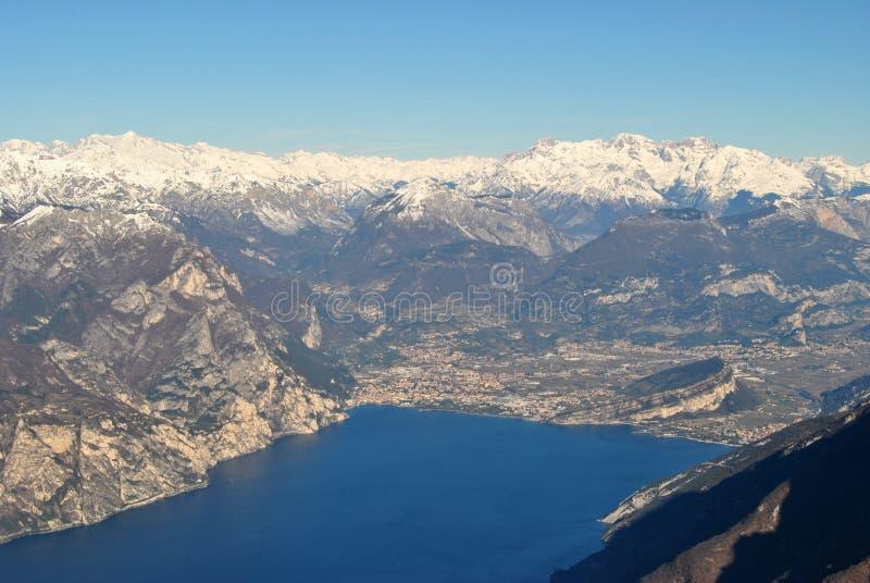 The top of Lake Garda royalty free stock photography