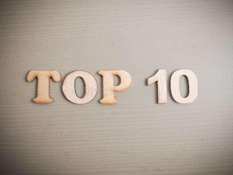 Top 10 Lijst, het Motievenconcept van Woordencitaten stock fotografie