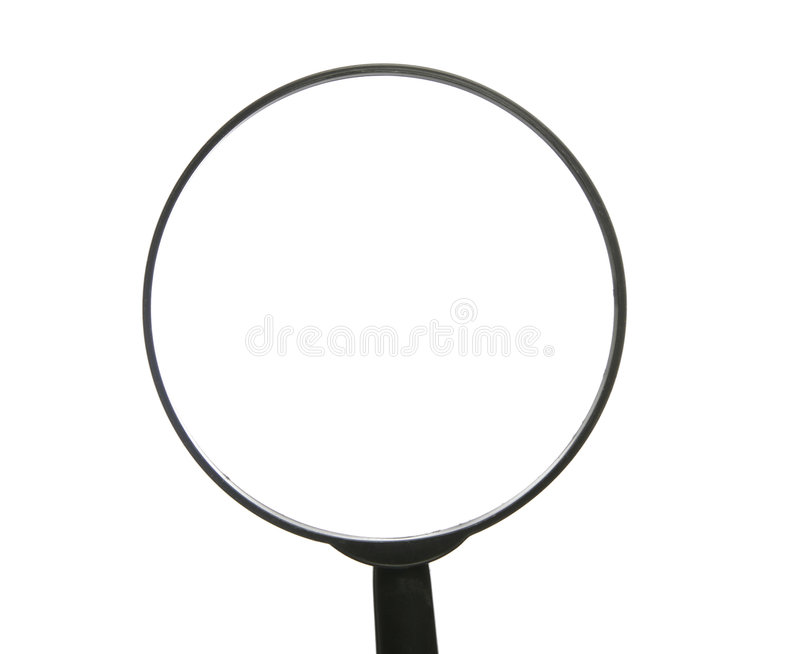 Top Of Magnifying Glass On White Background royalty free stock photo