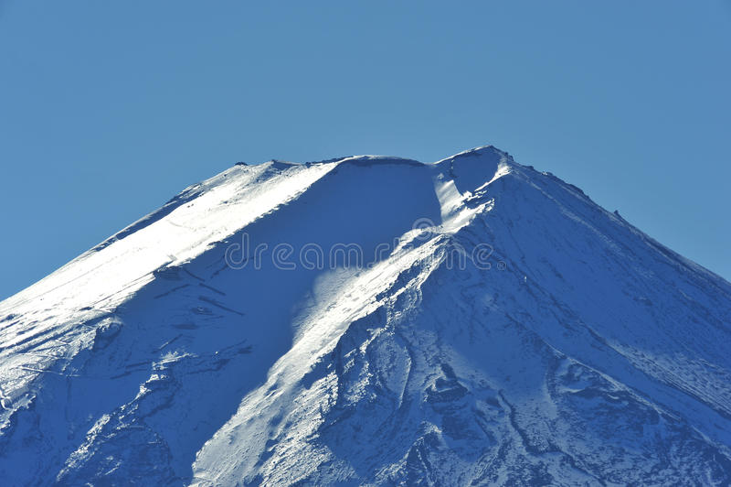 Top Of Mount Fuji Stock Photo