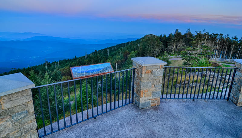 Top mount mitchell before sunset royalty free stock image