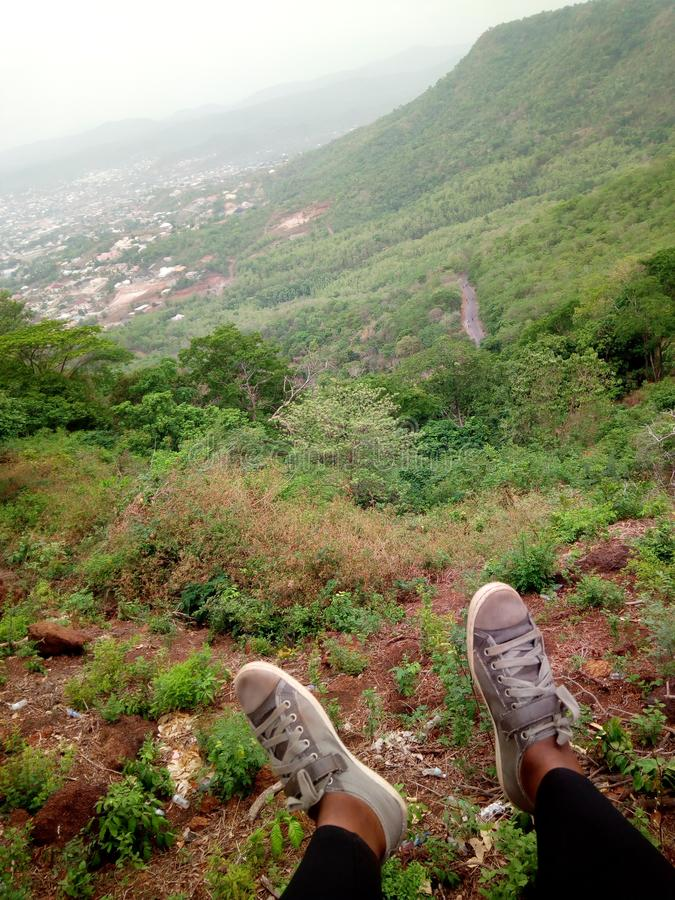 Top of Mount Patti. Top of . top of mount patti, lokoja, kogi state. nigeria stock images