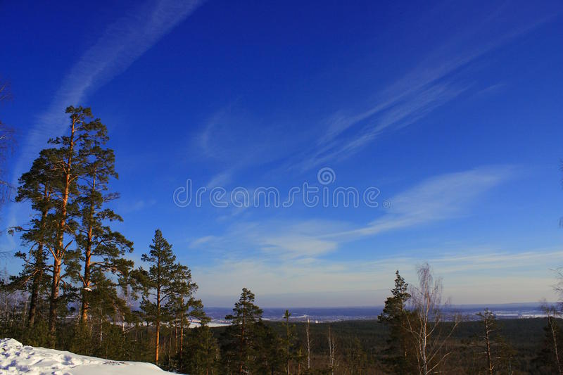 On top of the mountain royalty free stock photos