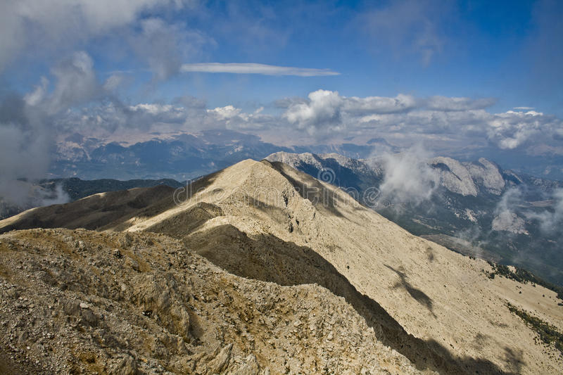 Оn the top of the mountain royalty free stock image