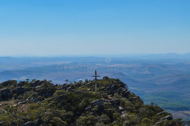 Top of the mountain royalty free stock image