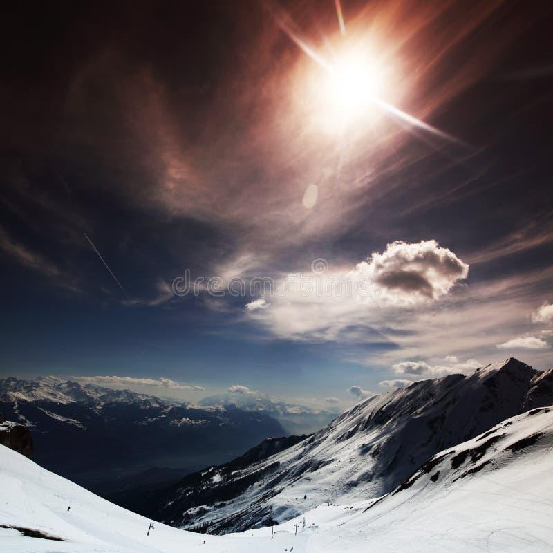 Top of mountains stock photo