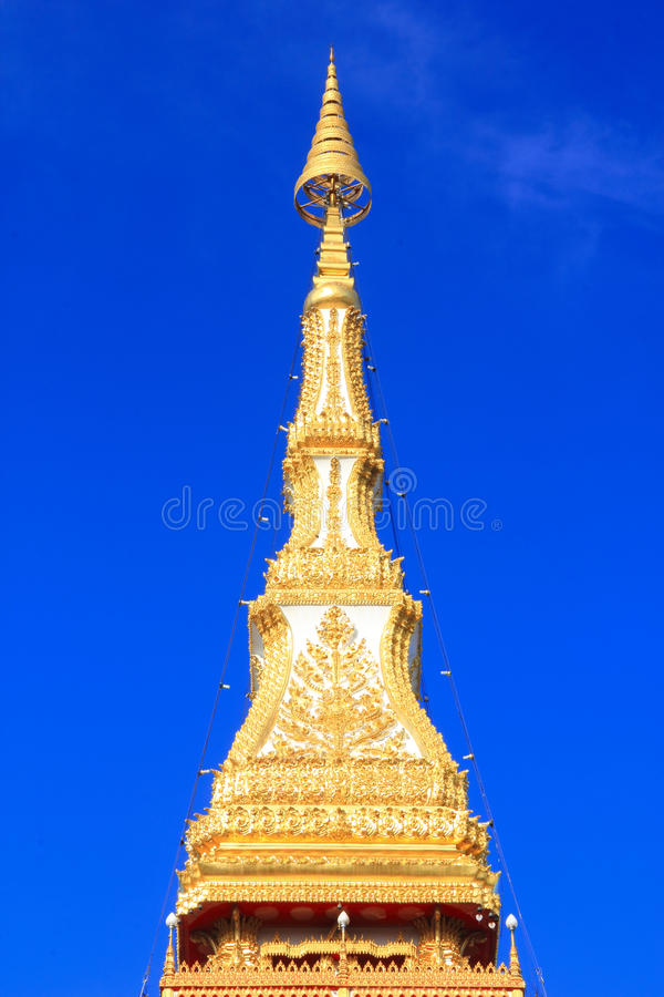 Download Top Pagoda Temple Relics,nine Floor In Khon Kaen Stock Photo - Image: 20325844