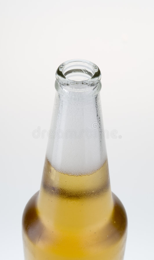 Download Top Part Of Beer Bottle With Froth Stock Image - Image: 5305257
