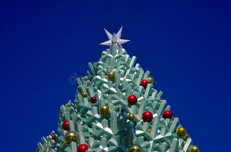 Top part of Christmas tree stock images